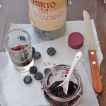 Blueberry jam with Mirto liqueur