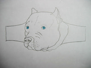 sketch of custom dog ring