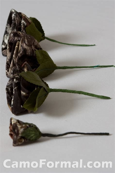 Camo Wedding Flowers and Roses Camouflage Prom Wedding