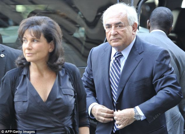 Anne Sinclair, wife of Dominique Strauss-Kahn (pictured together) is the granddaughter of Paul Rosenberg