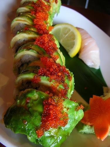 Kristen's lunch: caterpillar roll
