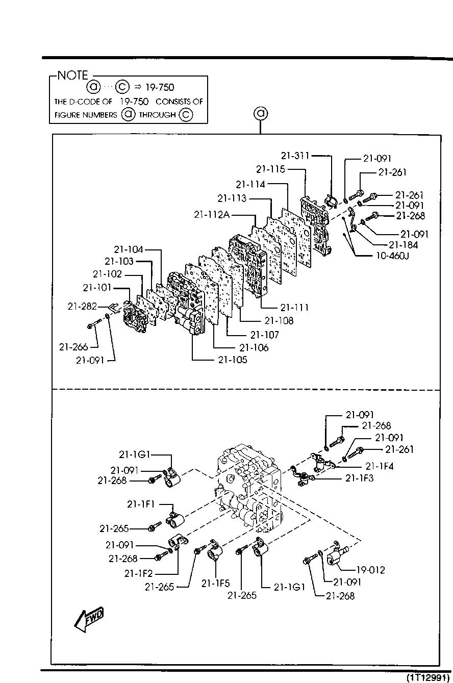Europe Xedos 9 Ta 08 2000 Gasoline Engine V6 Cylinder Transmission 1925 Automatic Transmission Control Valve Catcar Info