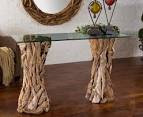 Furniture ~ Remarkable Console Table Decor Ideas With Natural Hard ...
