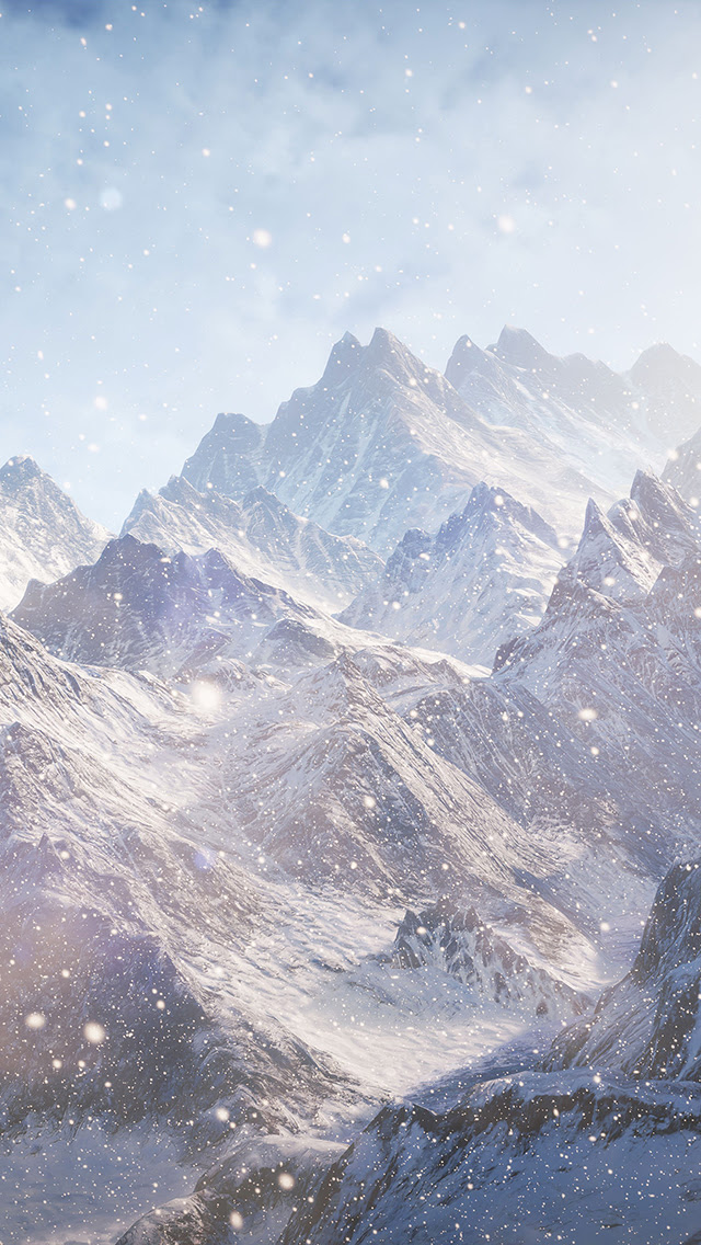 Mountain Snow Wallpaper for iPhone X, 8, 7, 6 - Free ...