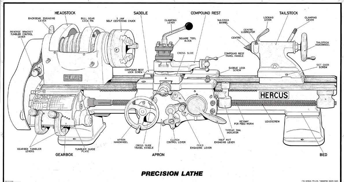 35 Metal Lathe Diagram