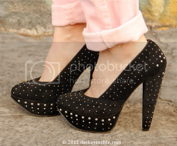 Shiekh studded platform pumps, Los Angeles fashion blog