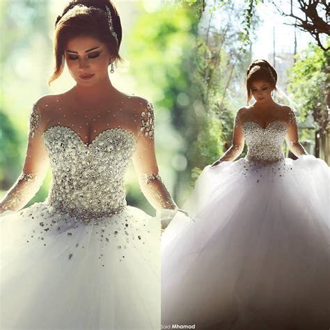 Sweetheart Lace Mermaid Wedding Dresses Dimond Decoration