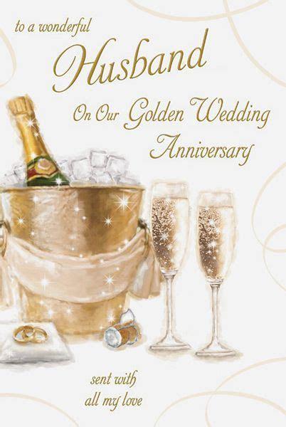 Husband 50th Golden Wedding Anniversary Card