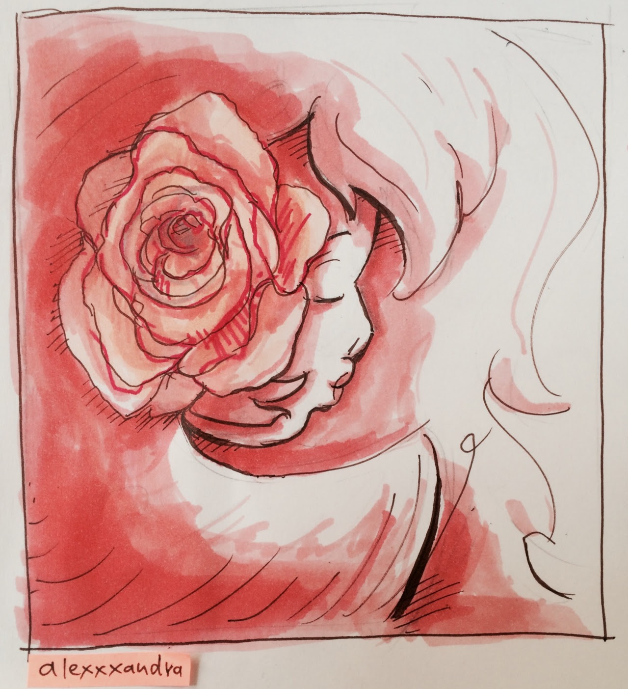 How can you not think of her when you draw roses?