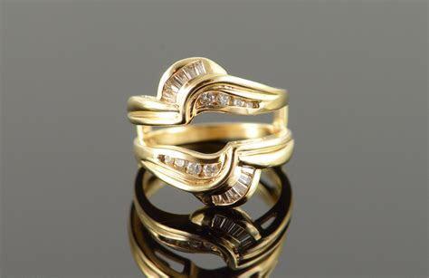 14K 0.25 CTW Diamond Wedding Band Engagement Insert Yellow