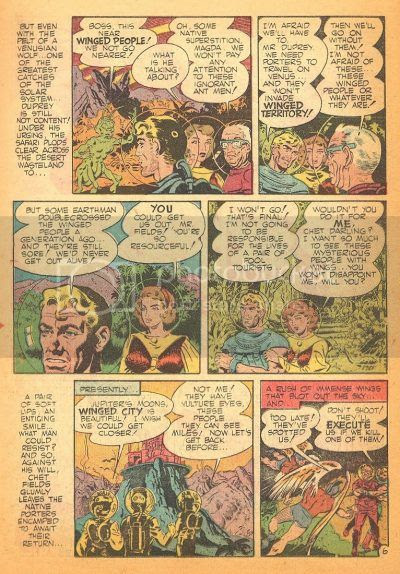 1950's Wallace Wood comic book heroes fight to survive on Venus