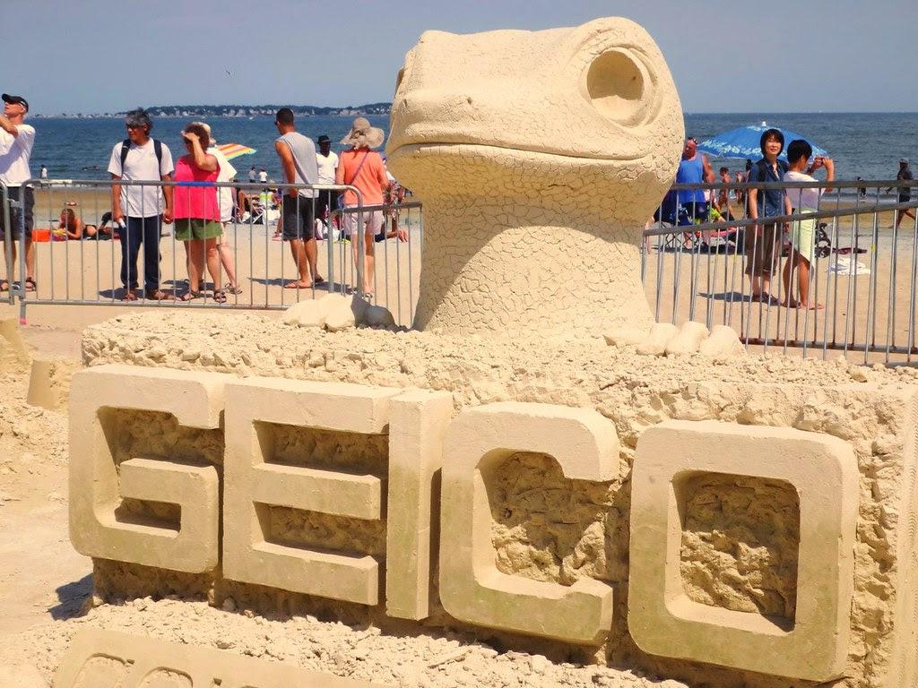 2013 revere beach sand sculpting festival gecko geico
