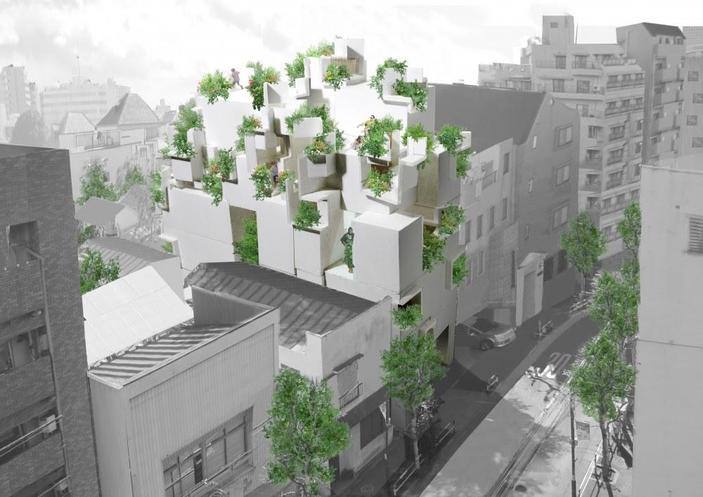 Vivienda Colectiva: Tree-ness House - Akihisa Hirata, Arquitectura, diseño, casas