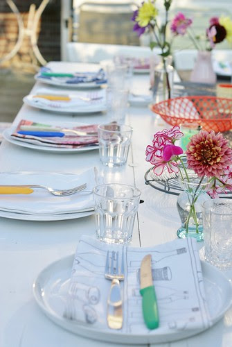summer diner in the garden by wood & wool stool