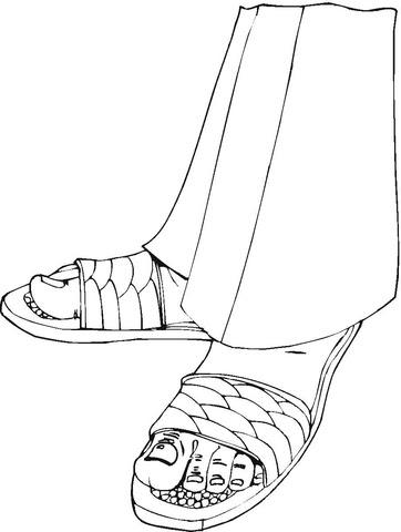 Dibujo De Zapatos Y Pantalones Para Colorear Dibujos Para Colorear