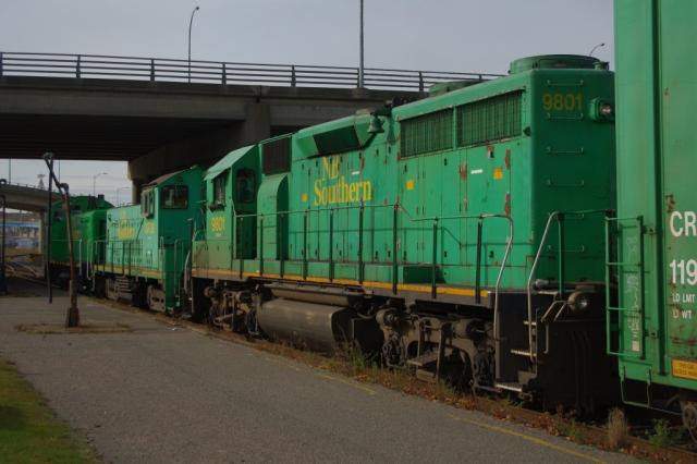 NBSR 9801 and friends in Saint John, by David Morris