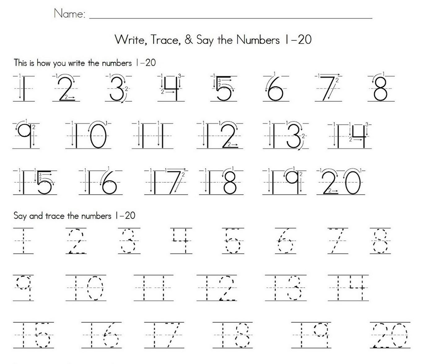 Numbers Tracing Worksheets Pdf Preschool Worksheet Gallery - 27+ Printable Number 10 Worksheets For Kindergarten Gif