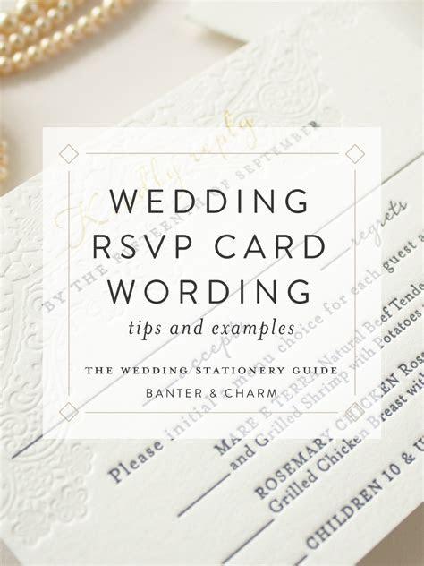 Wedding Stationery Guide: RSVP Card Wording Samples