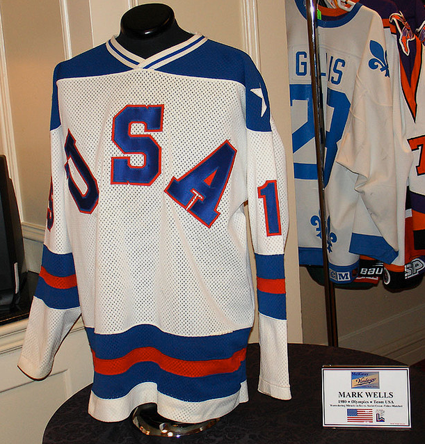 Mark Wells 1980 USA jersey