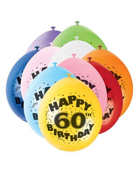 60th Birthday Balloons Air Fill   Party Superstores