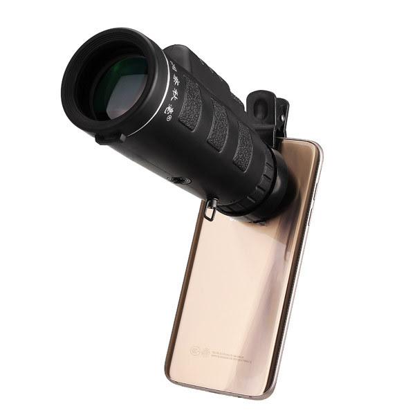 Universale 10x40 escursionismo lente monoculare + clip del telefono per telefono