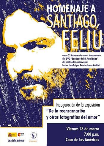 Cartel de la presentación del DVD «Santiago Feliú. Antológico».