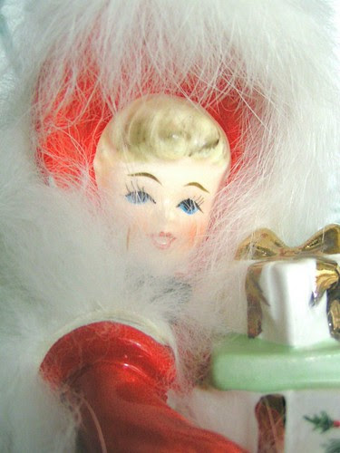 pretty christmas lady doll