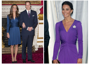 Kate Middleton Hair Style - Kate in Blue, Kate in Purple