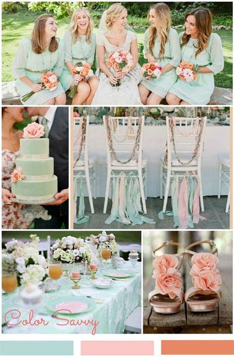 Pretty Mint Green wedding decorations and color scheme