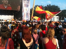 Fan Park Hamburg. VM-finalen, hvor Spanien vandt over Holland