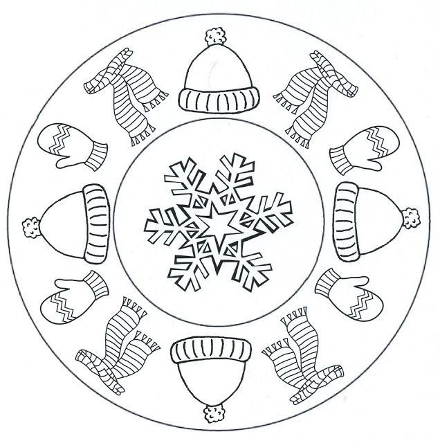 Winter Mandala Coloring Pages At Getdrawingscom Free For Personal