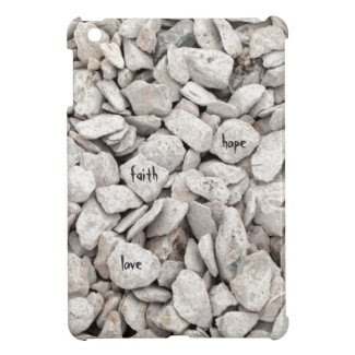 Faith, Hope, Love on Rocks Case For The iPad Mini