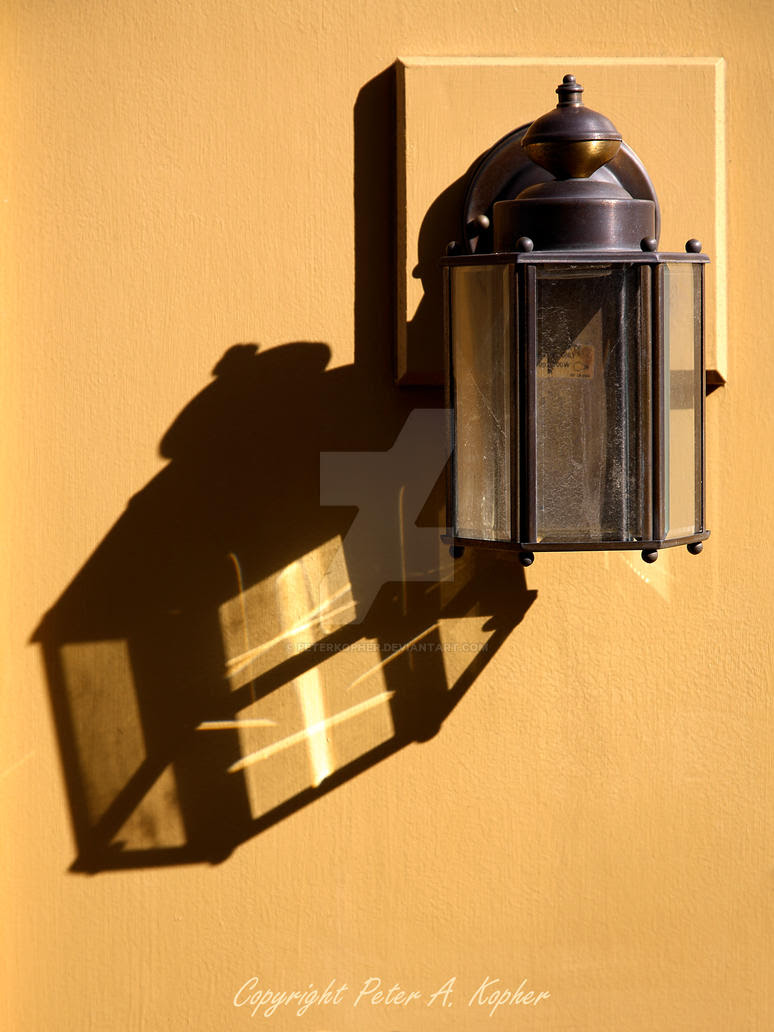 Wall Lantern and Shadow by peterkopher