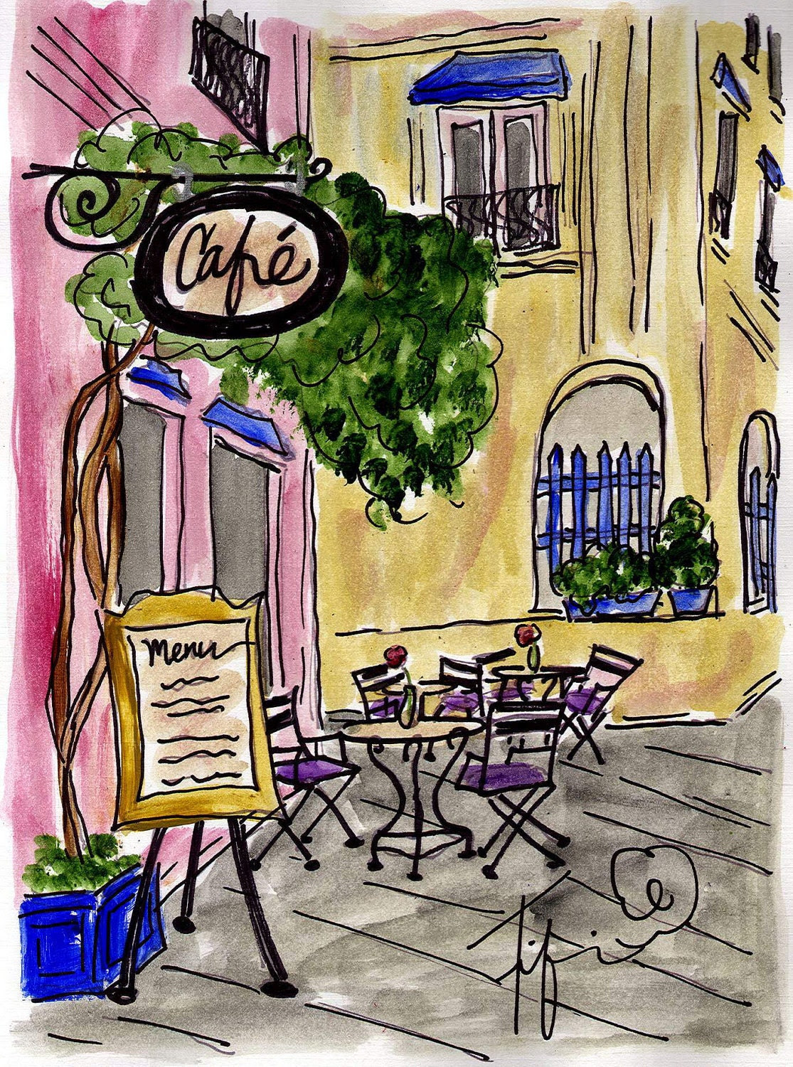 Wine Cafe in South of France