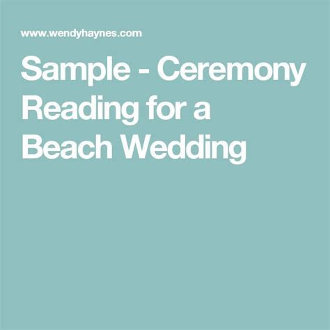 1000  ideas about Wedding Ceremony Samples on Pinterest