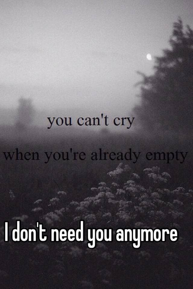 I Dont Need You Anymore