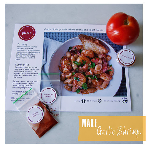 Garlic Shrimp Dinner from Plated