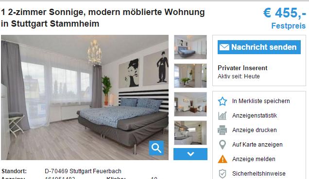 1 2 zimmer sonnige modern. Black Bedroom Furniture Sets. Home Design Ideas