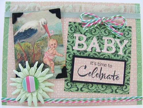 Baby Time To Celebrate Card