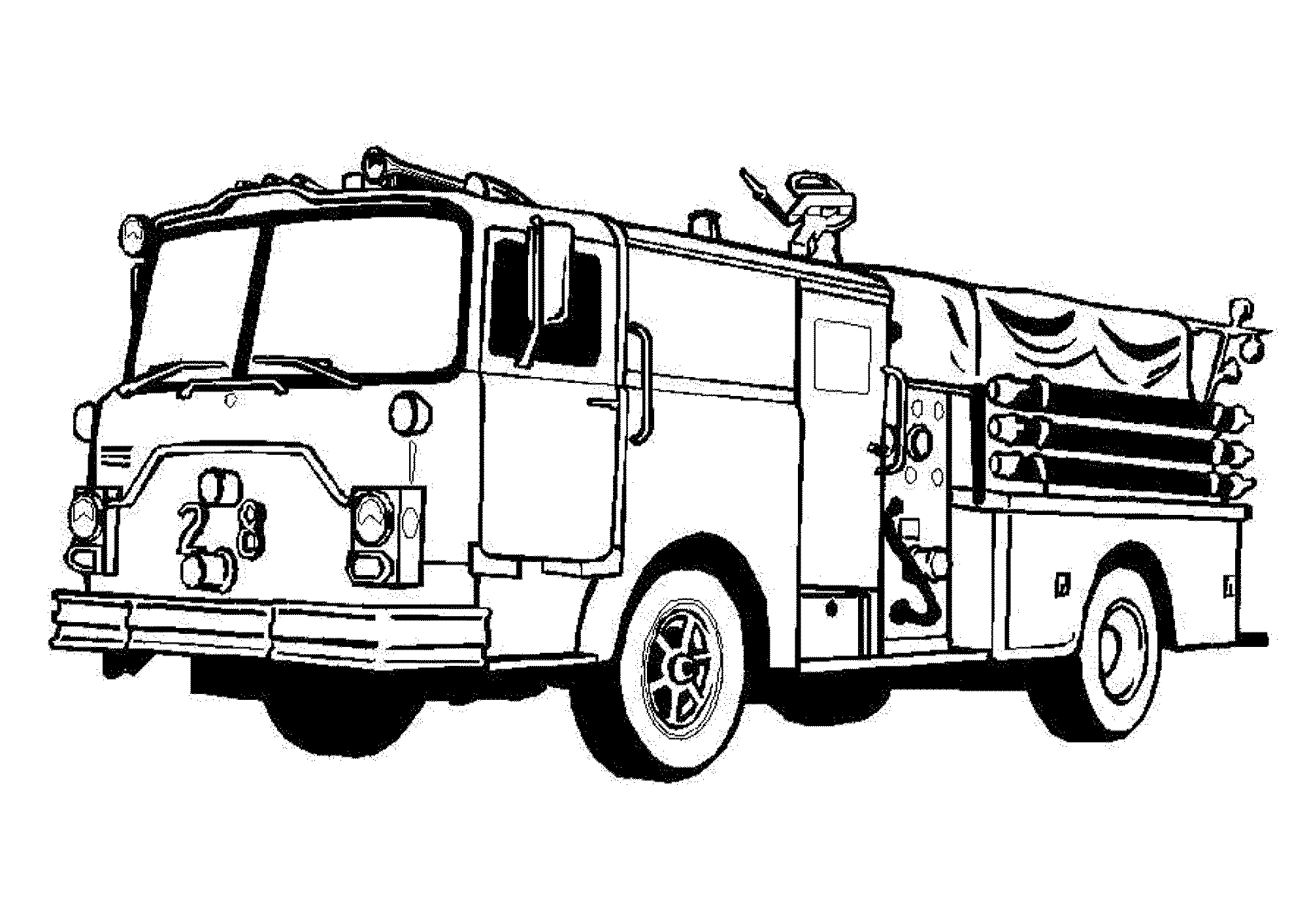 Fire Truck Drawing Easy at GetDrawings | Free download
