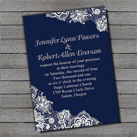 Beautiful Royal Blue wedding invitation sets ? free RSVP