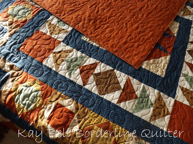 Doreen's Star quilt with Happy Times panto