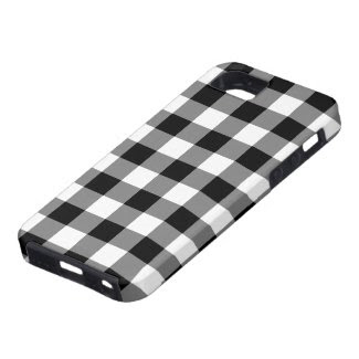 Black and White Gingham Pattern iPhone 5 Case