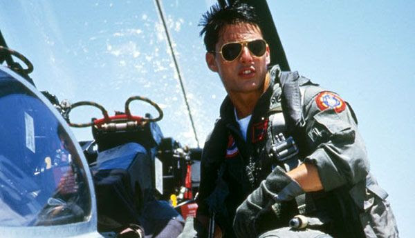 Tom Cruise stars as Maverick in the 1986 hit, TOP GUN.