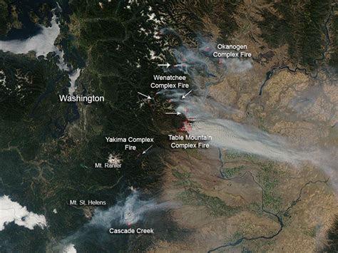 nasa wildfires  washington state