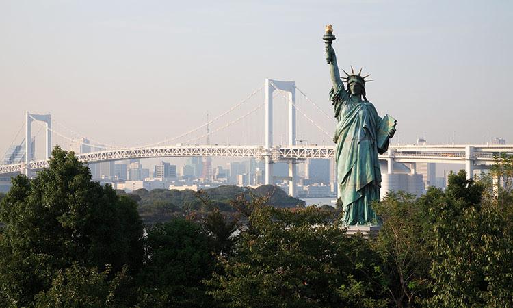 Faketouristattractions: Statue of liberty replica Tokyo