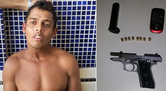 Elinaldo Boaventura estava com uma pistola 380 municiada