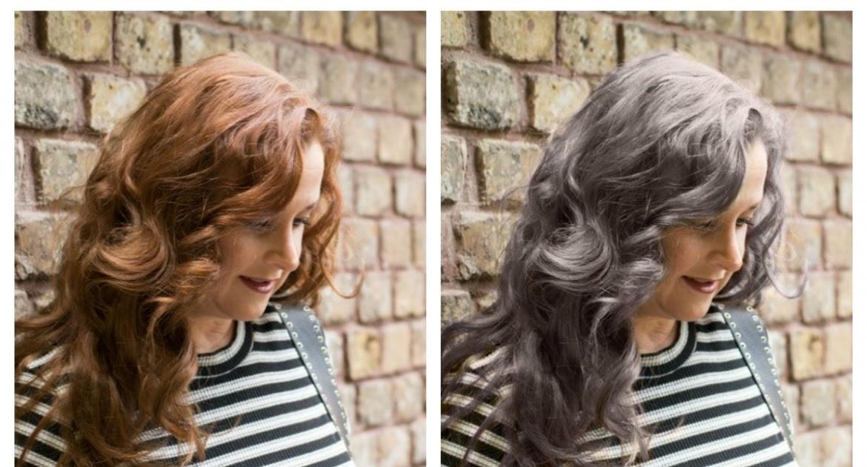 Grau Bild: Graue Haare Mit Dunklen Strahnen