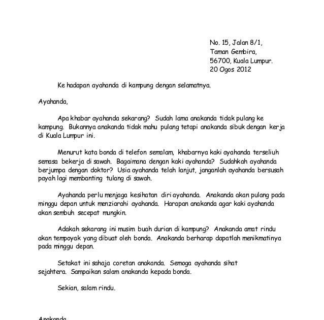 Contoh Karangan Surat Kiriman Rasmi Spm 350 Patah Perkataan Lamaran L