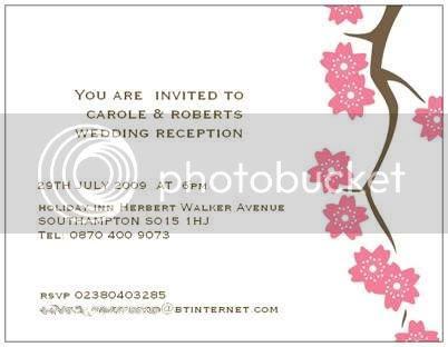 Wording On Wedding Evening Invitations